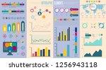 infographic elements data... | Shutterstock .eps vector #1256943118