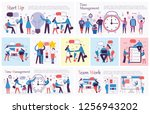 set of vector concept... | Shutterstock .eps vector #1256943202