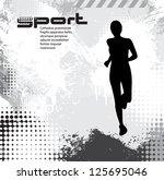 sport background | Shutterstock .eps vector #125695046