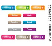 set of glossy buttons. | Shutterstock .eps vector #125695622