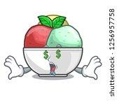 money eye sorbet ice with black ...   Shutterstock .eps vector #1256957758