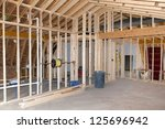 new room addition construction... | Shutterstock . vector #125696942