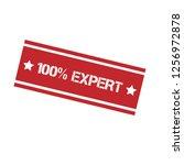 100  expert emblem  label ... | Shutterstock .eps vector #1256972878