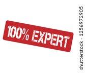 100  expert emblem  label ... | Shutterstock .eps vector #1256972905