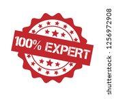 100  expert emblem  label ... | Shutterstock .eps vector #1256972908