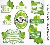 eco bio natural logos | Shutterstock .eps vector #125697416