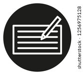 compose icon with paper and pen ... | Shutterstock .eps vector #1256975128
