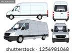 vector vans shipping white 3d | Shutterstock .eps vector #1256981068