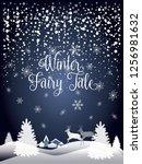 2019 winter holiday happy new... | Shutterstock . vector #1256981632