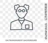 chemist icon. trendy flat... | Shutterstock .eps vector #1256985808
