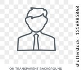 financial advisor icon. trendy... | Shutterstock .eps vector #1256985868