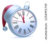 new year 12 o'clock time...   Shutterstock . vector #1256991745
