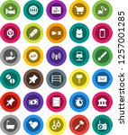 white solid icon set  vacuum... | Shutterstock .eps vector #1257001285