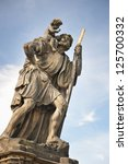 statue of child christus at the ...   Shutterstock . vector #125700332