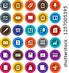 white solid icon set  cleaner... | Shutterstock .eps vector #1257005395