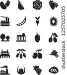 solid black vector icon set  ... | Shutterstock .eps vector #1257025705