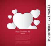 valentines day background with... | Shutterstock .eps vector #125703686