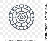cogwheel icon. trendy flat... | Shutterstock .eps vector #1257041032