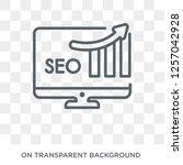 seo ranking icon. trendy flat... | Shutterstock .eps vector #1257042928