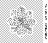 snowflake sticker vector linear ...   Shutterstock .eps vector #1257056752