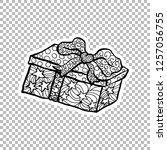 gift paper box sticker vector...   Shutterstock .eps vector #1257056755