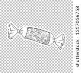sweets sticker vector linear...   Shutterstock .eps vector #1257056758