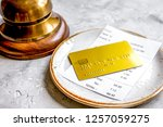 paying check for lunch in cafe...   Shutterstock . vector #1257059275