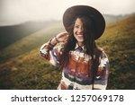 portrait of happy young woman... | Shutterstock . vector #1257069178