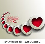 abstract valentines day hearts  ... | Shutterstock .eps vector #125708852