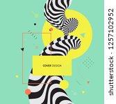 3d cover design template. asian ... | Shutterstock .eps vector #1257102952