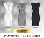 women's dress mockup collection.... | Shutterstock .eps vector #1257103885