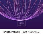 3d futuristic technology style. ... | Shutterstock .eps vector #1257103912