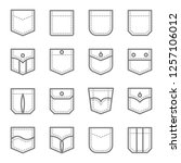 patch pocket style vector line... | Shutterstock .eps vector #1257106012