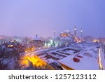 istanbul snow and night. | Shutterstock . vector #1257123112