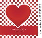 heart valentine's day card | Shutterstock .eps vector #125712722