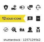 support icons set with manager  ... | Shutterstock .eps vector #1257129562