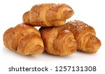 Croissant Isolated On White...