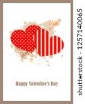 cute  postcard valentine's day...   Shutterstock .eps vector #1257140065