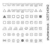 laundry symbols. vector. | Shutterstock .eps vector #125714342