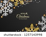 christmas background with... | Shutterstock .eps vector #1257143998
