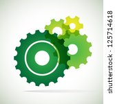 green trnsparent cogs  gears ... | Shutterstock .eps vector #125714618