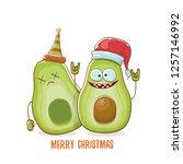 merry chirstmas vector funky... | Shutterstock .eps vector #1257146992