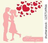 romantic valentine lovers... | Shutterstock .eps vector #125714966