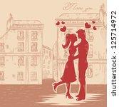 romantic valentine retro... | Shutterstock .eps vector #125714972