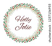 vector christmas wreath of red... | Shutterstock .eps vector #1257156955