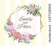 vector template for wedding... | Shutterstock .eps vector #1257158302