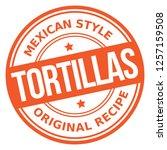 tortillas rubber stamp   Shutterstock .eps vector #1257159508