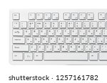 close up of a white computer... | Shutterstock . vector #1257161782