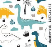 childish seamless pattern with... | Shutterstock .eps vector #1257161845