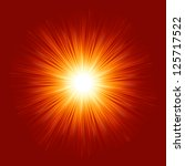 star burst red and yellow fire. ... | Shutterstock .eps vector #125717522
